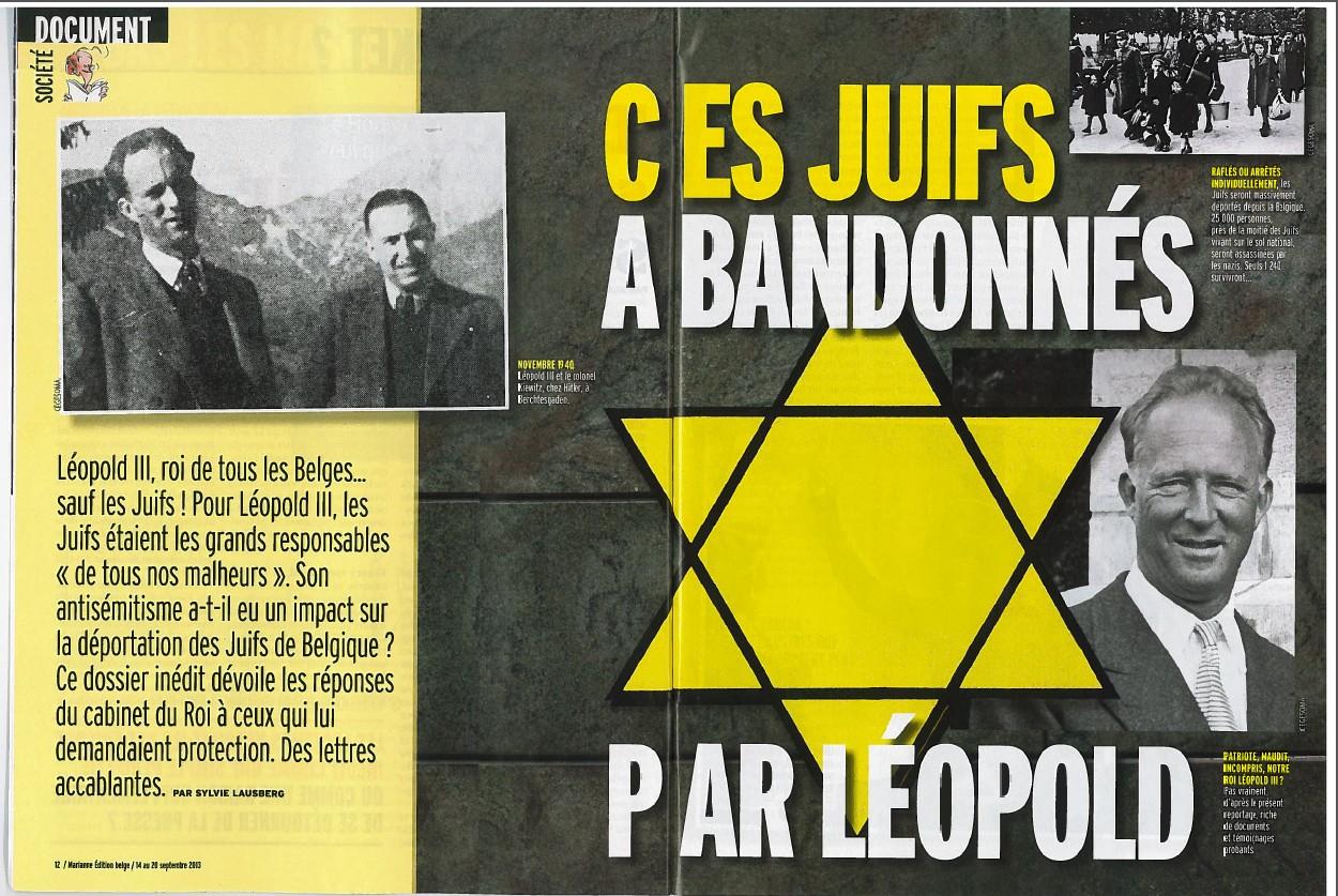 Dossier sur le rôle de Léopold III pendant la guerre à l'égard des Belges d'origine juive